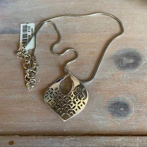 Brighton Silver Tone Necklace NEW